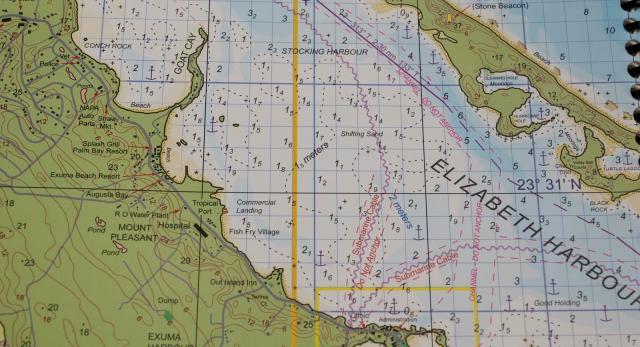 Sjökort Bahamas