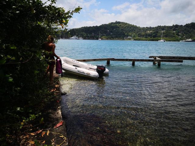 Errol Flynn Dingy dock