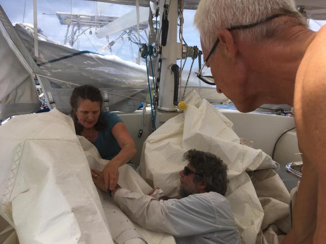 Kat Repairing sail 1